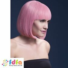 PALE PINK FEVER ELISE SLEEK SHORT BOB WIG + CAP ladies womens fancy dress