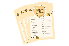 Bumble Bee Baby Shower Prediction Cards A6 Cute Mummy To Be Pack of 10