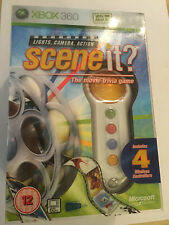 XBOX 360 SCENE IT? lights camera action game & 4 buzzers / WIRELESS CONTROLLERS