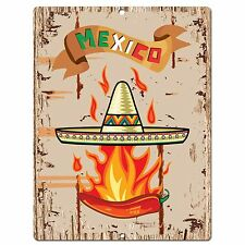 PP0587 Mexico Plate Sign Bar Shop Cafe Home Kitchen Restaurant Interior Decor