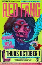 """RED FANG / WHORES / WILD THRONE """"AUTUMN BREEZE TOUR 2015"""" MONTANA CONCERT POSTER"""