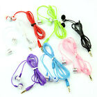 Fashion 3.5mm In-Ear Earbuds Headset Headphone For iPhone Samsung MP3 4 iPod PC
