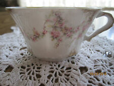 Vintage Tea Cup by Theodore Haviland Limoges France Pink Roses Gold trim