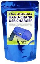 Emergency Power USB Hand Crank  SOS Phone Charger Camping Backpack Survival Gear