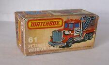 Repro Box Matchbox Superfast Nr.61 Peterbilt Wrecker Truck