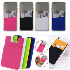New Universal 3M Adhesive Sticker Back Cover Card Holder Pouch For Cell Phone