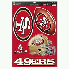 SAN FRANCISCO 49ERS MULTI-USE DECALS 4 DIFFERENT PER SHEET 11X17 LIKE a Fathead
