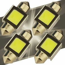 4X 6000K White Super Bright COB LED Map/Dome Interior Lights Bulbs 31MM Festoon