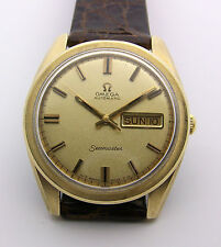 Gold Top Omega Seamaster Automatic Day Date 37mm Model CD 166 032 Caliber 750