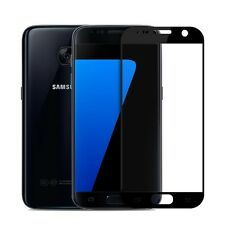 Genuine Tempered Glass Film FULL Screen Protector for Samsung Galaxy S7 BLACK