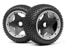 HPI Baja 4789 Dirt Buster Block Tire HD Compound On Black Wheel NiP