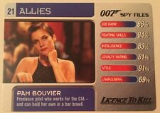 Licence To Kill Pam Bouvier #21 Allies - 007 James Bond Spy Files Card