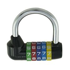502412 Dial Bicycle Password Combination Padlock Safety Lock 5 Digit 70mm