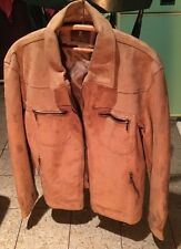 Men's Emporia High Quality Sandy/beige  Suede Leather Jacket BNWT