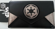 Star Wars Stormtrooper Imperial Logo Black Envelope Chain Wallet Nwt