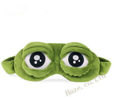 Cute Sad frog 3D Adjustable Eye Mask Cover Sleeping Funny Eyepatch Rest Toy