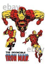 Vintage Marvel Style Guide Print - INVINCIBLE IRON MAN / TONY STARK