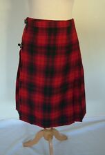 Vintage 60s Kinloch Anderson red checked plaid tartan kilt skirt, UK