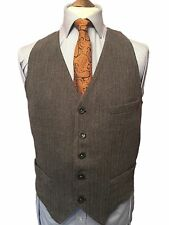 TOMMY HILFIGER SUPERB VINTAGE GREY HERRINGBONE WAISTCOAT, FIT 38'-40' CHEST