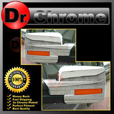 09-14 Ford F150 Truck Chrome Mirror w/Turn Light Signal Hole Full Cover 1 Pair