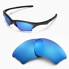 New Walleva Ice Blue Replacement Lenses For Oakley Half Jacket XLJ Sunglasses