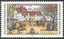 Germany 1984 Stamp Day/Taxis Posthouse/Horses/Transport/Post/Buildings 1v n27687