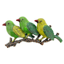 Fantasyard Enamel Parrot Bird Family Pin Brooch