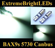 TWO Xenon HID WHITE 6-SMD 5730 Canbus Error Free BAX9s 64132 LED Parking Lights