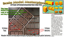 Wooden Pallets & Skids (18+9 total) Scale Model Masterpieces 1;87/HO Fine Scale