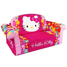 Hello Kitty Pink Flowers Flip Open Sofa 2 in 1 Kids Toddler Nap Bed NEW
