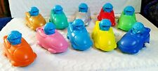 "TEN Doraemon in a Bumper Car White Knob wind-up asst colors 2.5""L x 1.5""W"