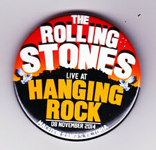 The Rolling Stones Hanging Rock Australia Concert Badge RARE Cancelled Tour 2014