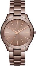 Women's Michael Kors Slim Runway Brown Steel Watch MK3418