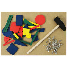 Hammer and Nails Tap Tap Art Toy - Hammer and Wooden Shape Hammering Game