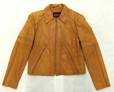 Wilsons Leather Jacket Size 42 Mens 70's Vintage Tan Zippered Arms