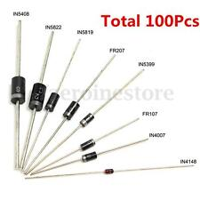 100x 8 Kinds Diode Bag Assortment Kit 1N4148 FR107 1N5822 for Arduino Best