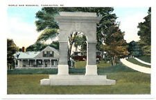 FARMINGTON ME – World War Memorial