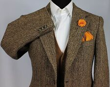 Harris Tweed Blazer Jacket Wedding Country 40R WONDERFUL BESPOKE JACKET 114