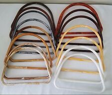 """Lot of 8 Pair Assorted Color 10"""" D Plastic Macrame Purse Handles Craft Rings"""
