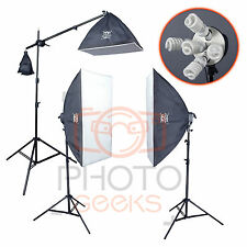 Softbox Continuous Lighting Kit - 2550w 3 Head - Photography Studio Portrait Set