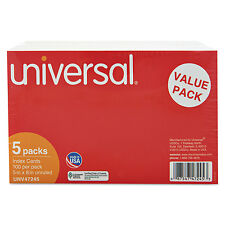Universal Unruled Index Cards 5 x 8 White 500/Pack 47245