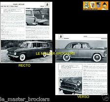 HINDUSTAN Ambassador_HILLMAN Super Minx MkII Break PRESSE FICHE AUTO TECHNIQUE