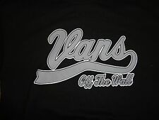Black Vans Off The Wall Skateboard T Shirt Adult M Free US Shipping