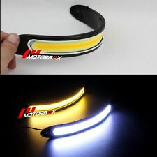 2x Flexible COB Waterproof 12V LED Daytime Running Lamp Offroad Fog Driving Lamp