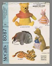 Vintage McCall's Winnie The Pooh Fabric material Sewing Pattern # 8087