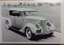 "12 By 18"" Black & White PICTURE 1936 Ford Phaeton 3/4 View with top up"
