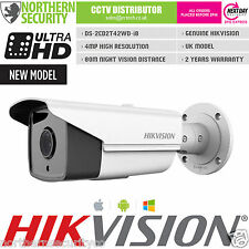 HIKVISION 6mm 4MP 1080P P2P WDR 80M IR POE WHITE BULLET IP SECURITY CCTV CAMERA