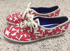 New KEDS x KATE SPADE New York red butterfly Champion sneaker SHOES Womens 6.5