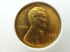 1939 Lincoln Wheat Cent penny p bu Unc Uncirculated BRILLIANT GEM Anacs MS67 red