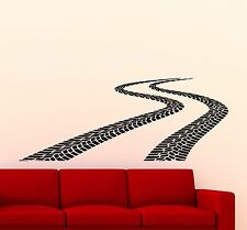Tire Tracks Wall Decal Road Traces Nursery Vinyl Sticker Garage Art Mural 300xx